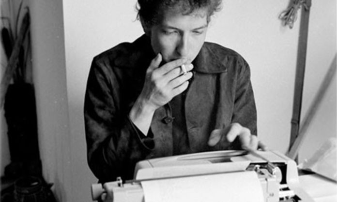 Bob Dylan with Typewriter