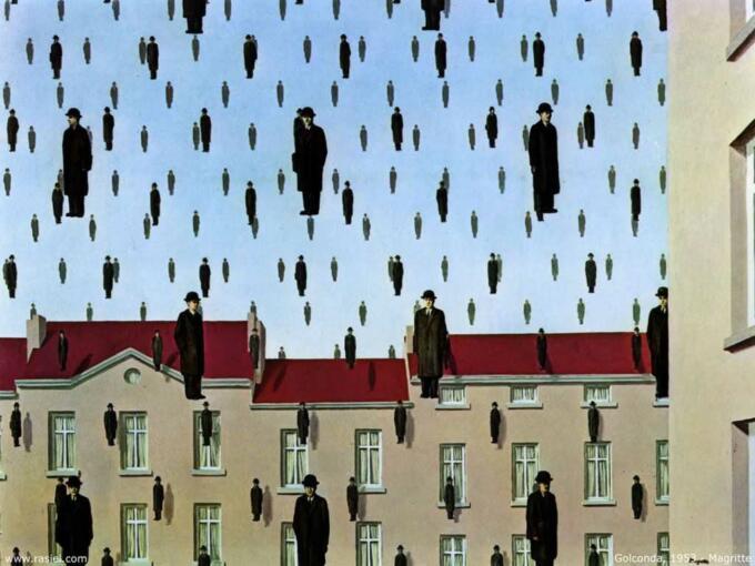 Golconda, Rene Magritte