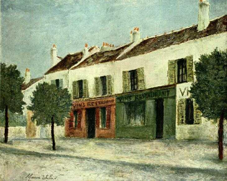 The Art of Solitude 4 lukisan maurice utrillo,lukisan kota paris,pelukis perancis,lukisan kota,lukisan post impresionisme