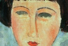 Young Brunette - Lukisan Modigliani