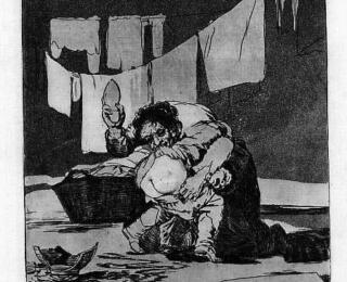 Sketsa Francisco Goya - Los Caprichos 25
