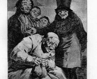 Sketsa Francisco Goya - Los Caprichos 30