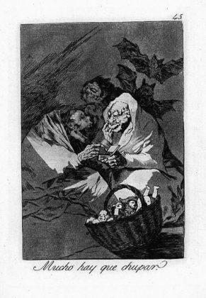 Sketsa Francisco Goya - Los Caprichos 45