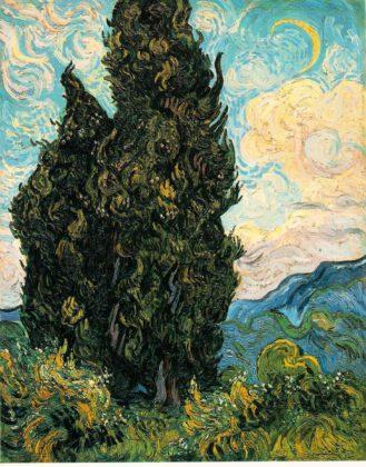 Cypresses(1889)