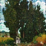 Cypresses with Two Figures(1889–1890)