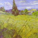 Green Wheat Field with Cypress (1889)