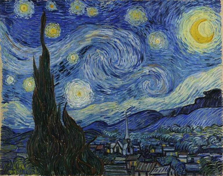 lukisan vincent van gogh - the starry night