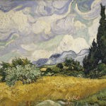 Wheat Field with Cypresses(1889)
