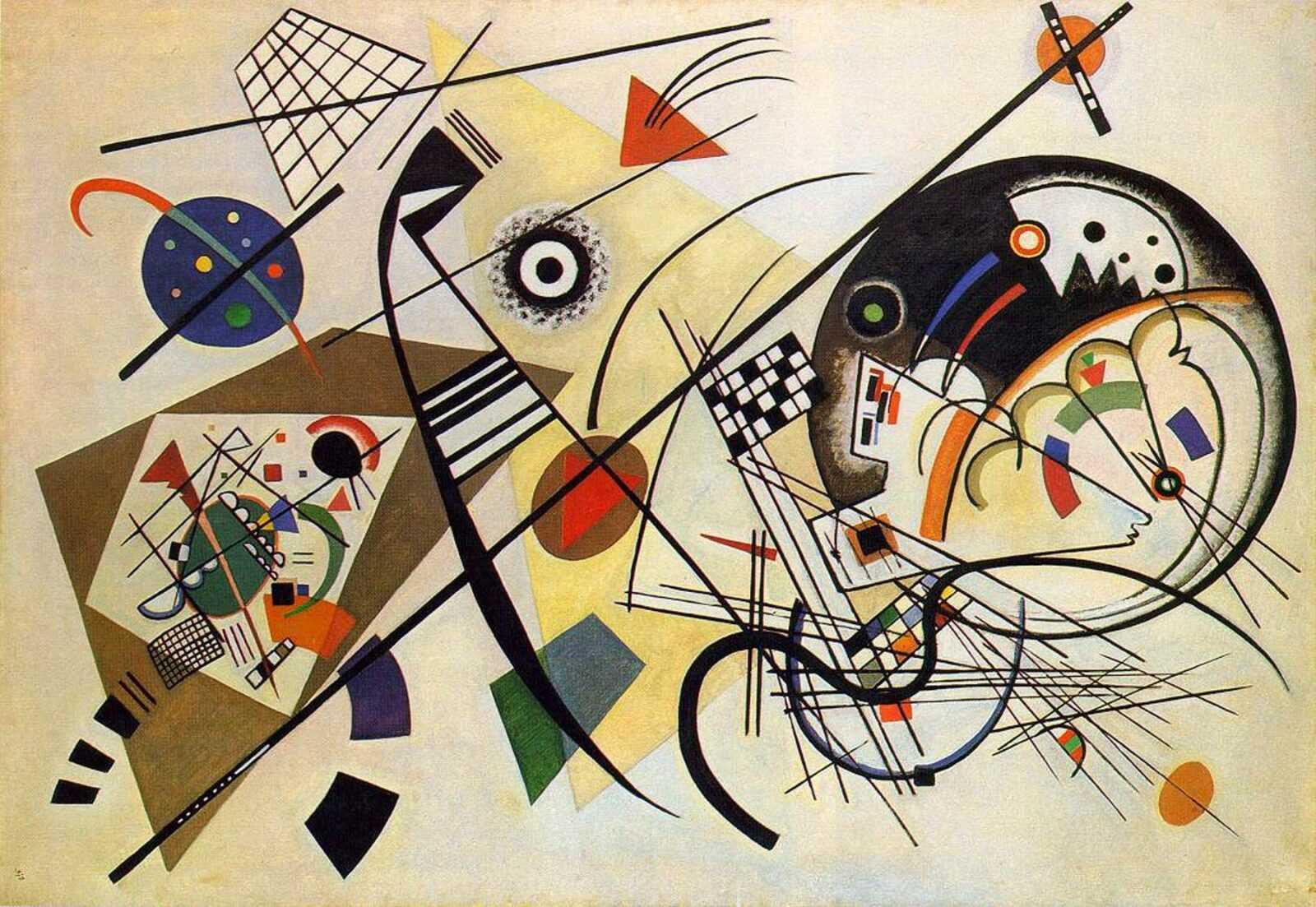 Black Lines I (or Life's Brutal Anecdote) 1 lukisan abstrak kandinsky,wassily kandinsky,jiwa dalam seni,contoh lukisan non figuratif,inspirasi lukisan kandinsky