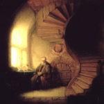 Lukisanrembrandt -philosopher in meditation
