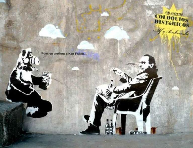 Charles Bukowski and Alf