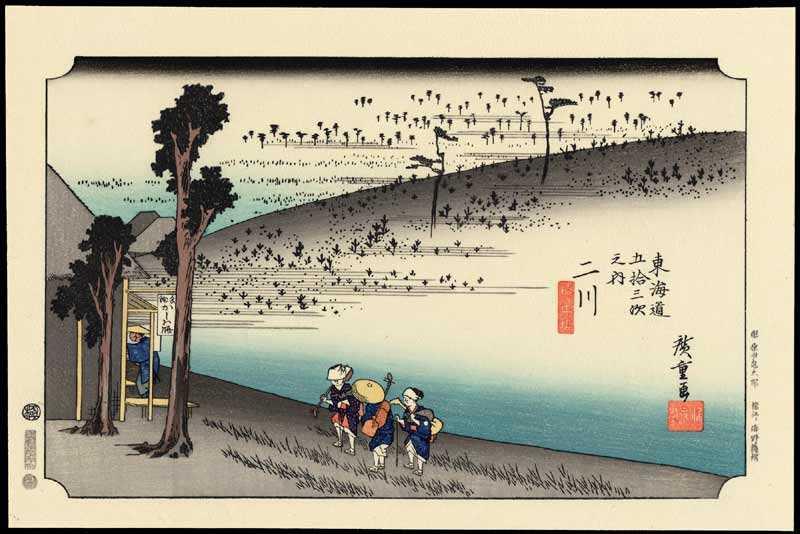 Tiga Bingkai Hujan 2 seni era tokugawa jepang
