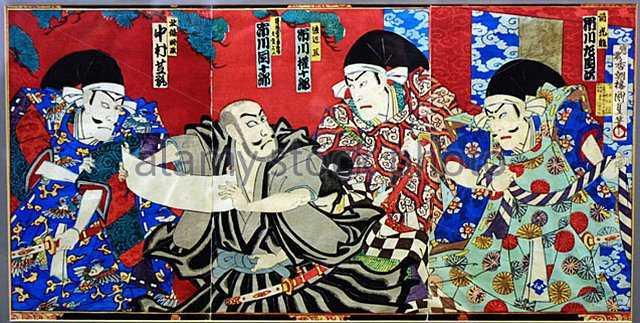 Tiga Bingkai Hujan 1 seni era tokugawa jepang