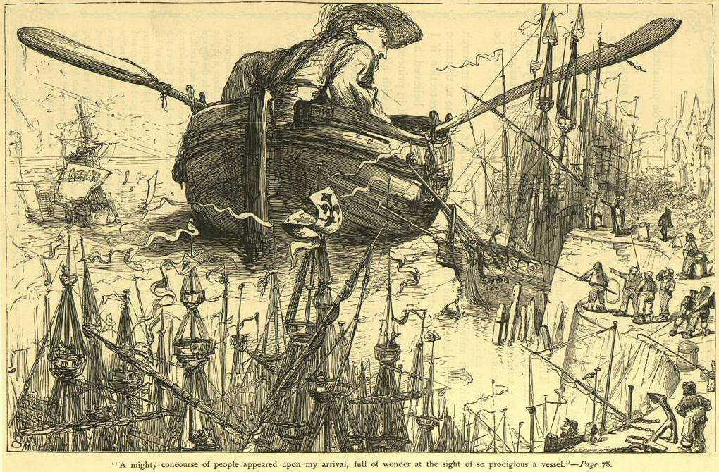 Satir Jenius Swift dan Perjalanan Gulliver 2 perjalanan gulliver,kisah liliput,novel gulliver,sastrawan inggris terkenal di dunia,karya jonathan swift
