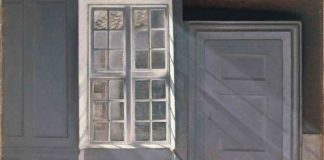 Dust Motes Dancing in the Sunbeam, Lukisan Interior Vilhelm Hammershoi