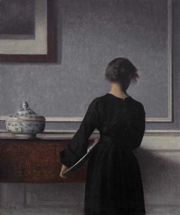 Meditasi Ruang 10 vilhelm hammershoi,lukisan interior,lukisan ruang,kierkegaard estetika,lukisan kehampaan