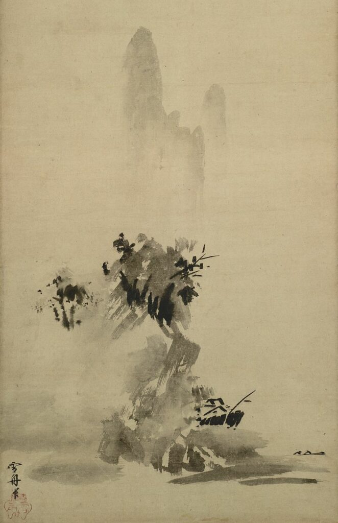 Meditasi Ruang (Bagian 2): Ruang-antara 2 lukisan zen sesshu toyo
