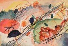 Aquarell 6 – Lukisan wassily kandinsky