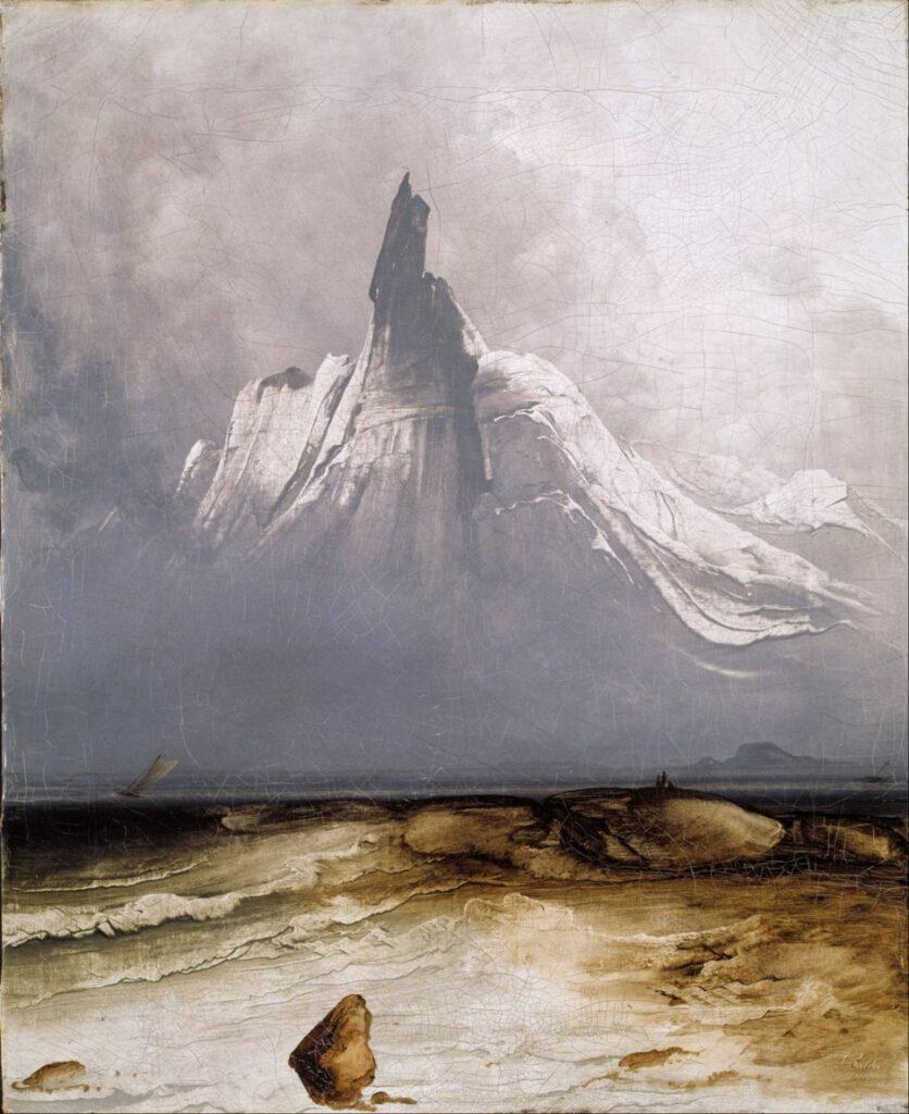 lukisan naturalisme Stetind in Fog