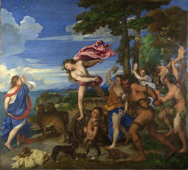 Bacchus and Ariadne, Lukisan Titian