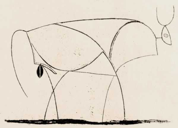Le Taureau (tentang Picasso dan Bantengnya) 20 picasso,lukisan sketsa,lukisan banteng,contoh karya picasso,lukisan picasso dan maknanya