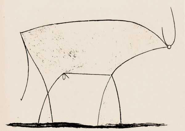 Le Taureau (tentang Picasso dan Bantengnya) 22 picasso,lukisan sketsa,lukisan banteng,contoh karya picasso,lukisan picasso dan maknanya