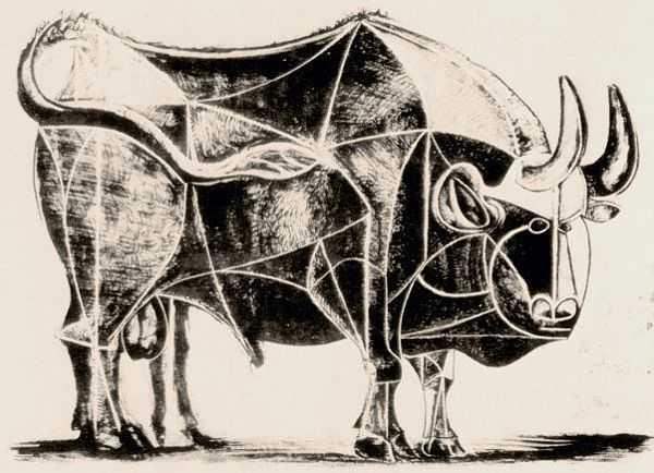 Le Taureau (tentang Picasso dan Bantengnya) 8 picasso,lukisan sketsa,lukisan banteng,contoh karya picasso,lukisan picasso dan maknanya