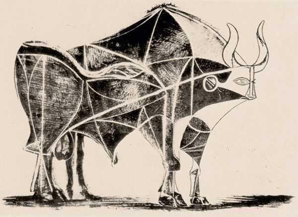 Le Taureau (tentang Picasso dan Bantengnya) 10 picasso,lukisan sketsa,lukisan banteng,contoh karya picasso,lukisan picasso dan maknanya