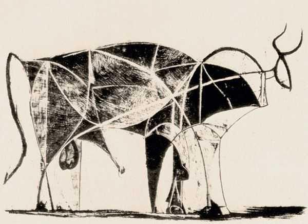 Le Taureau (tentang Picasso dan Bantengnya) 12 picasso,lukisan sketsa,lukisan banteng,contoh karya picasso,lukisan picasso dan maknanya