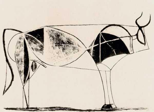 Le Taureau (tentang Picasso dan Bantengnya) 14 picasso,lukisan sketsa,lukisan banteng,contoh karya picasso,lukisan picasso dan maknanya