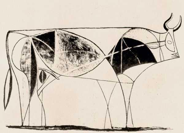 Le Taureau (tentang Picasso dan Bantengnya) 16 picasso,lukisan sketsa,lukisan banteng,contoh karya picasso,lukisan picasso dan maknanya