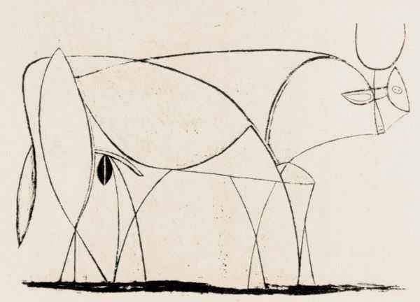 Le Taureau (tentang Picasso dan Bantengnya) 18 picasso,lukisan sketsa,lukisan banteng,contoh karya picasso,lukisan picasso dan maknanya