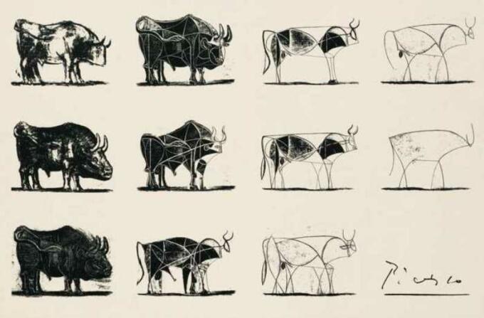 The Bull, Sketsa Picasso 1