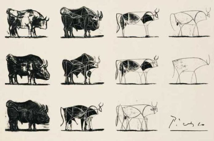 The Bull, Sketsa Picasso 1