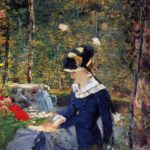 Edouard Manet - Young Woman in the Garden - 1880