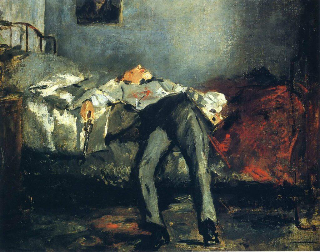 Edouard Manet: (Narasi) Tanpa Narasi 7 edouard manet,lukisan edouard manet,le suicide,lukisan kematian,seni modern