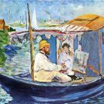Edouard Manet - Monet in his Studio Boat