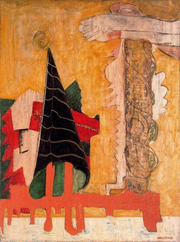 Lukisan Mark Rothko: Abstraksi Mitomorfosis 3 lukisan mark rothko