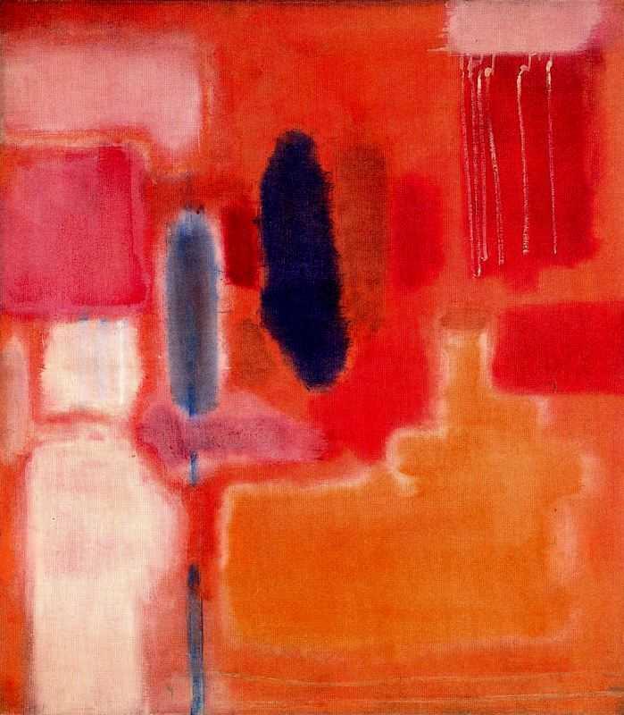 Lukisan Mark Rothko: Abstraksi Mitomorfosis 4 lukisan mark rothko