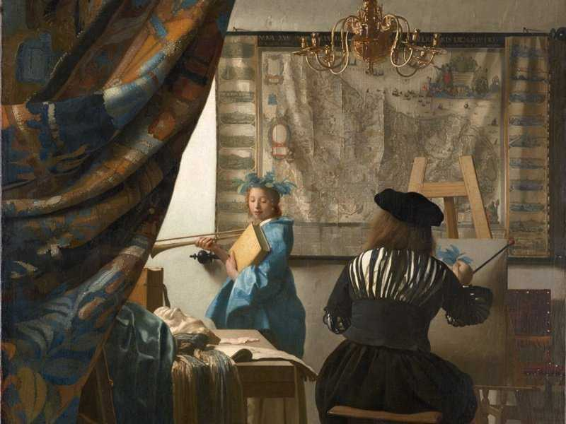 Lukisan Johannes Vermeer - The Allegory of Painting