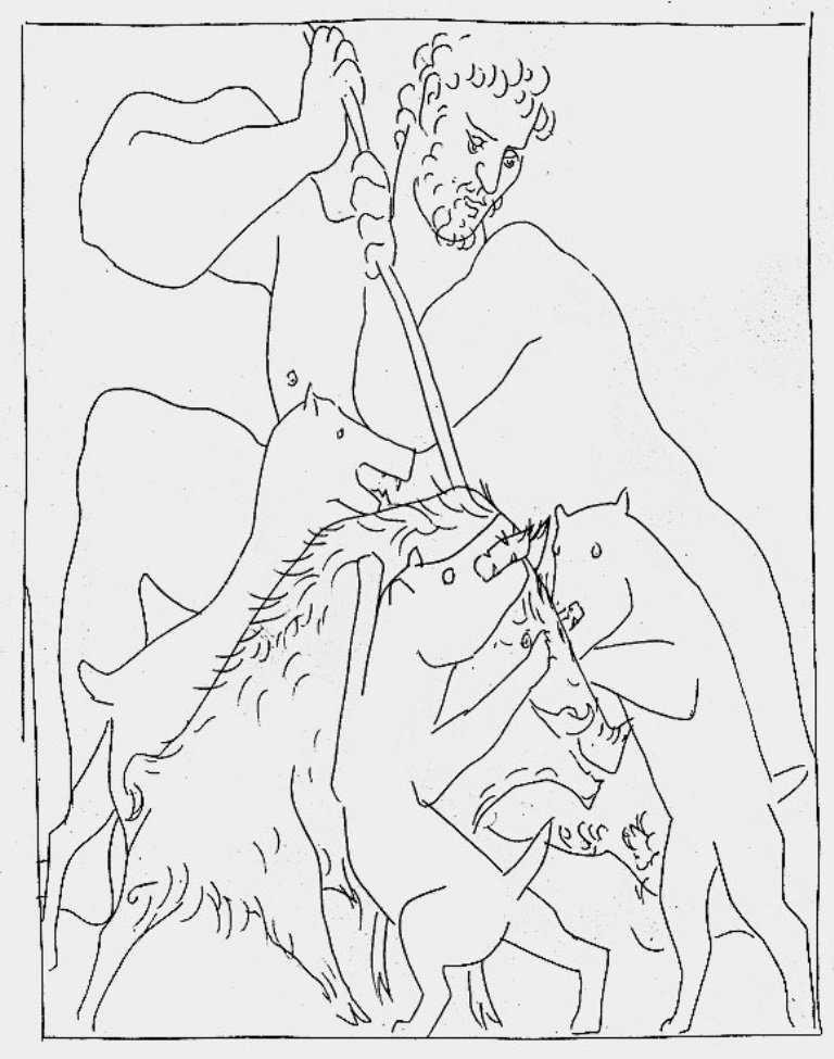 Lukisan Mitos Picasso (Ovid Bagian 3) 4 lukisan mitos picasso