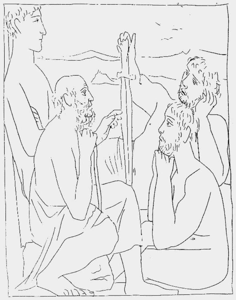 Lukisan Mitos Picasso (Ovid Bagian 3) 2 lukisan mitos picasso