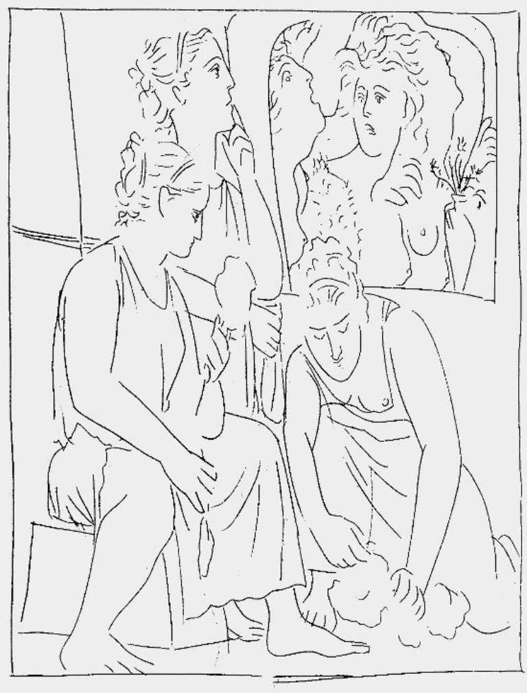 Lukisan Mitos Picasso (Ovid Bagian 3) 5 lukisan mitos picasso