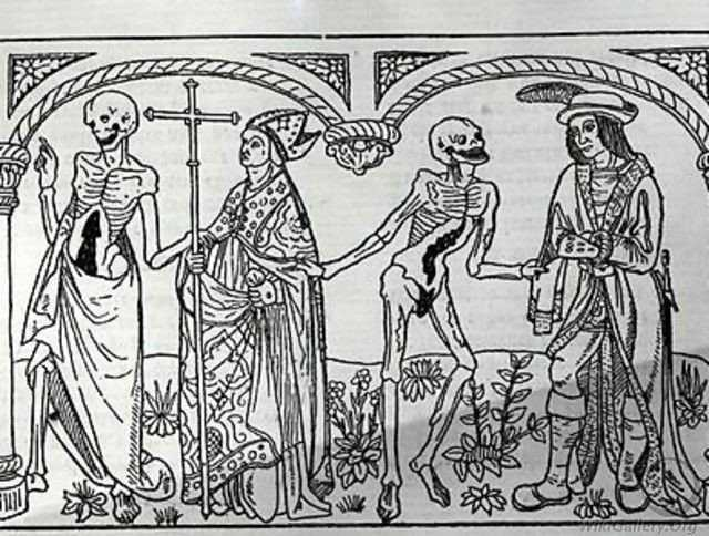 Tarian Kematian Guyot Marchant - Death taking the Bishop and the Nobleman