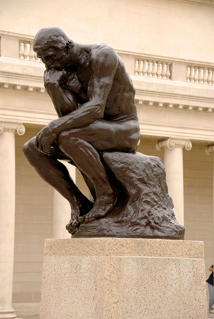Patung Figuratif The Thinker Rodin, 1880