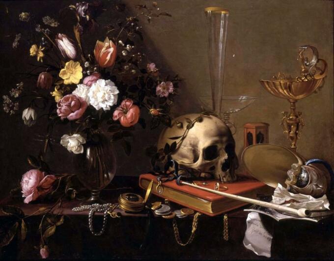 Lukisan Vanitas - Adriaen van Utrecht