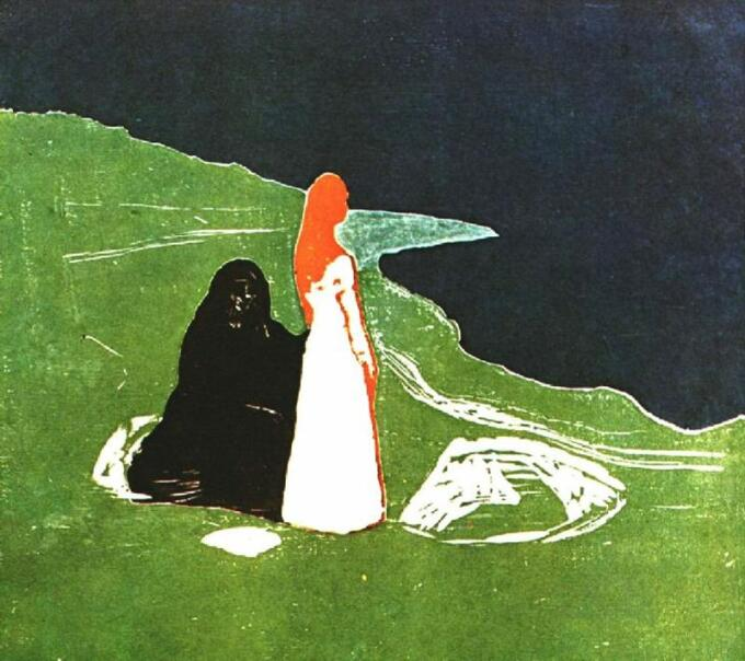 Karya Edvard Munch Twee vrouwen aan het strand